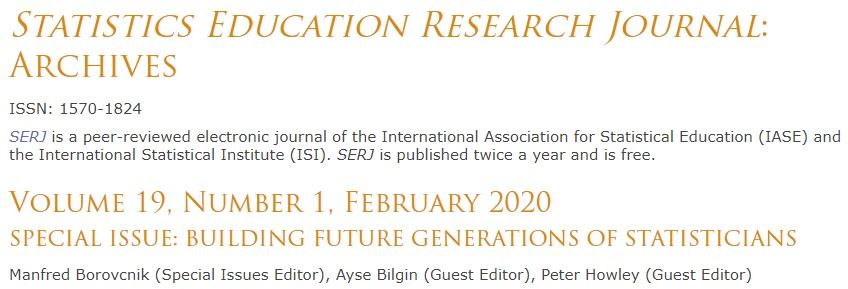 SERJ Website - Special Issue 'Building Future Generations of Statisticians'