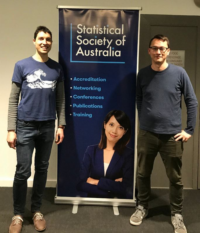 SSA Vic Branch President Damjan Vukcevic (L) with speaker Anthony Lee (R)